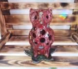 Maholiss - Keramik Eule Stimmungslicht - Gartenstele - Insektenhaus